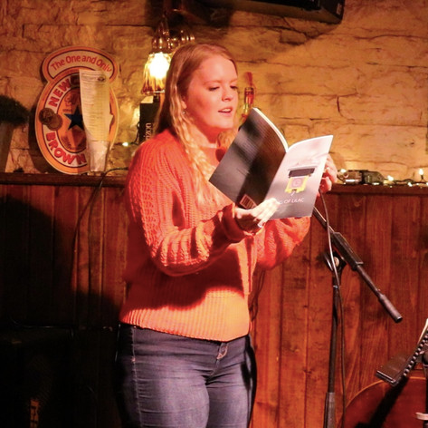 Kelsey Bigelow featuring at Drop the Mic in Iowa City