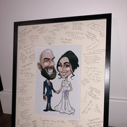 Caricature Wedding Signing Frame