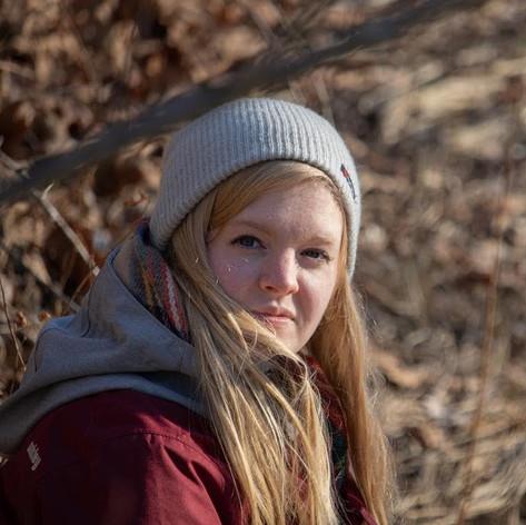 Kelsey Bigelow in winter