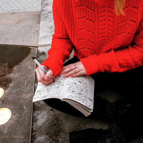 Kelsey Bigelow Writing in Notebook_Light
