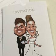 Wedding Caricature Invitation