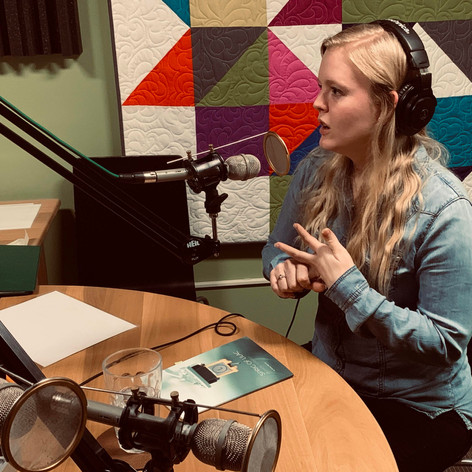 Kelsey Bigelow at KHOI Radio in Ames, Iowa