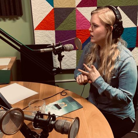 Kelsey Bigelow at KHOI Radio in Ames, Iowa