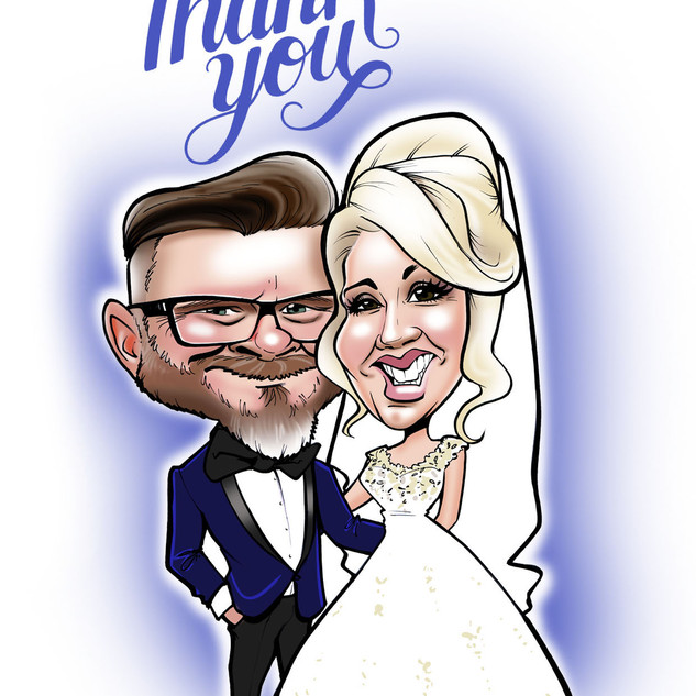 Caricature Thank You Cards