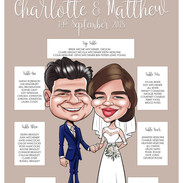 Wedding Caricature Seating Plan