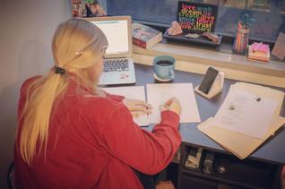 Kelsey Bigelow editing Sprig of Lilac