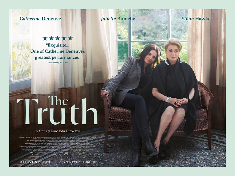 Catherine Deneuve Juliette Binoche star in The Truth La vérité film by Kore-Eda Hirokazu The Truth is Film of the Week in France Where You Are Best French films ever Top French movies list