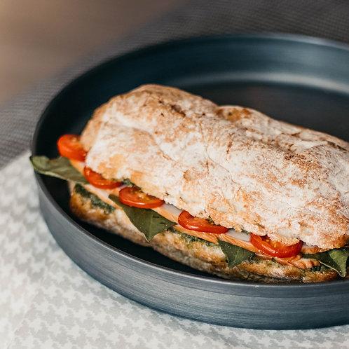 Mixed Vegetarian Cheese Ciabattas/Focaccias - (V) (D)
