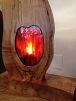 Spalted Maple Sculpted Lamp