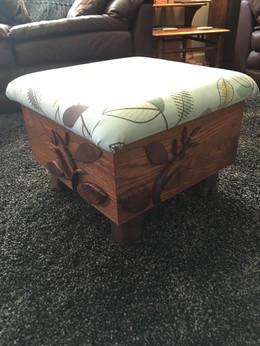 White Oak and Black Walnut Footstool