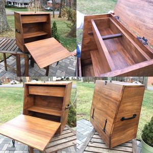 Quartersawn Sycamore Horse Grooming/Tack Box