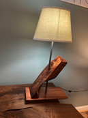 Slanted Hawaiian Koa Slab Lamp