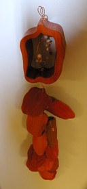 Roasted Pepper Ristra Sculpture/Wall Hanging
