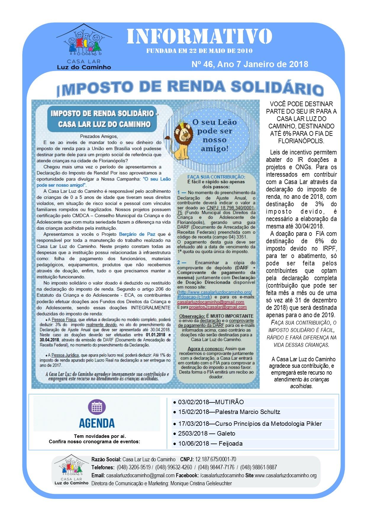 Informativo 01/18