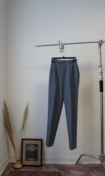 Vintage A. Byer Pleated Grey Pinstripe Pants
