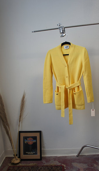 60's Belted Wool Cardigan
