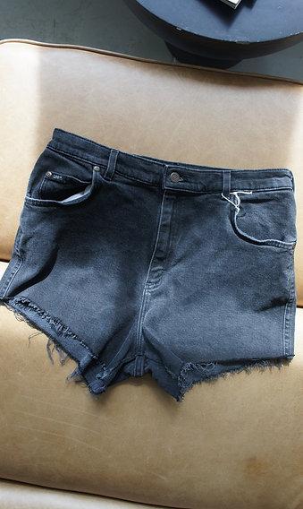 Black Lee Cutoff Jean Shorts