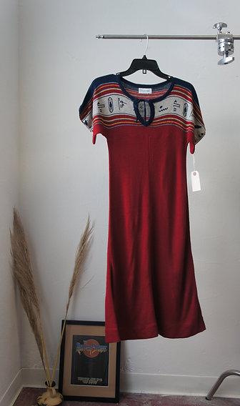 70s Knit Midi Dress
