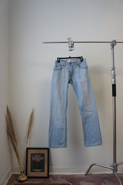 90s Levi's 527s Light Wash Jeans with Patched Back Pocket