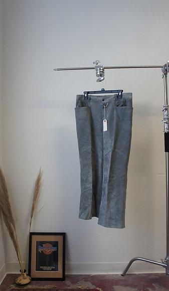 80s Grey Suede Pants