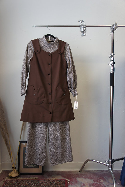 60s Homemade Jumper and Dress Set