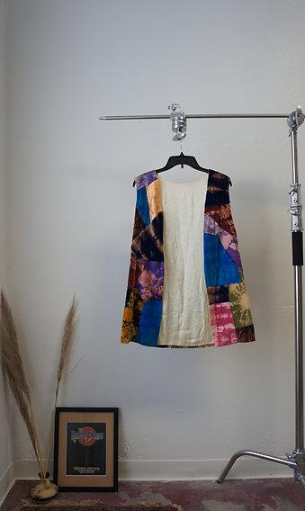 70s Handmade Patchwork Velvet Vest