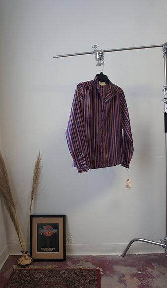 70's Striped Button Down