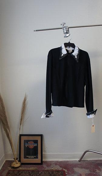 70s Rhinestone Collar Ranchwear Zip Up