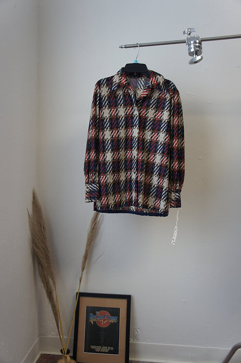 70's Houndstooth Button Down