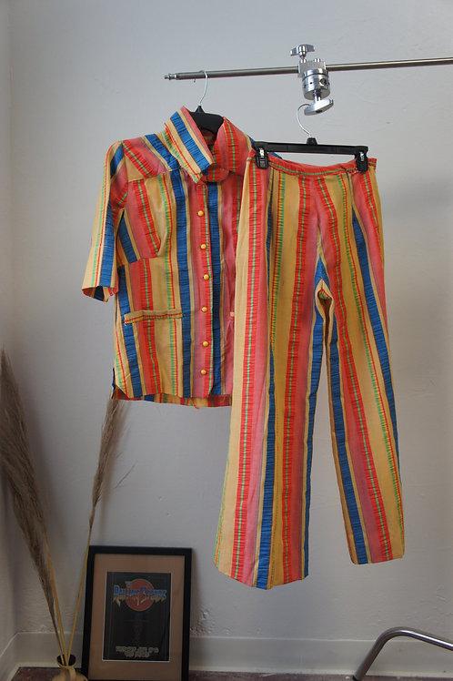 70s Homemade Striped Play Set