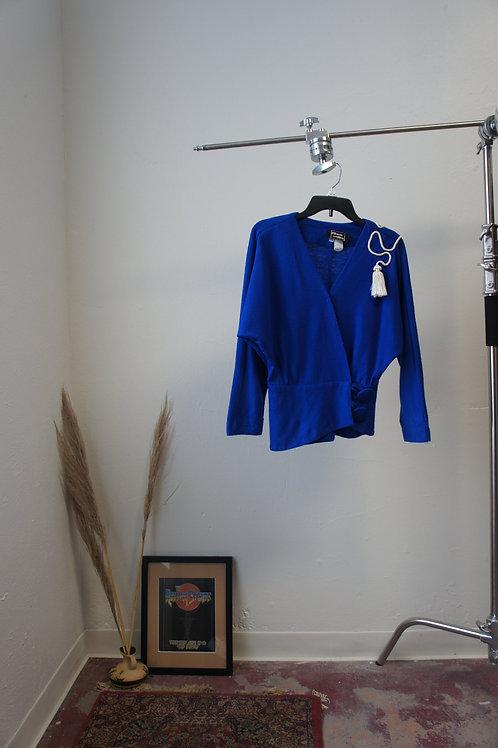 70's Wool Tassel Top