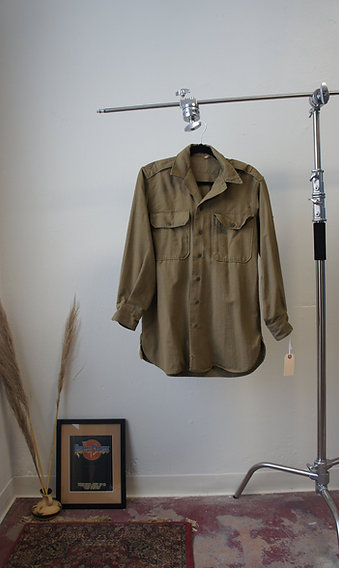 40's Military Button Up