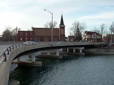 St. Andrew's Welland, see looking east to west across Division Street bridge.