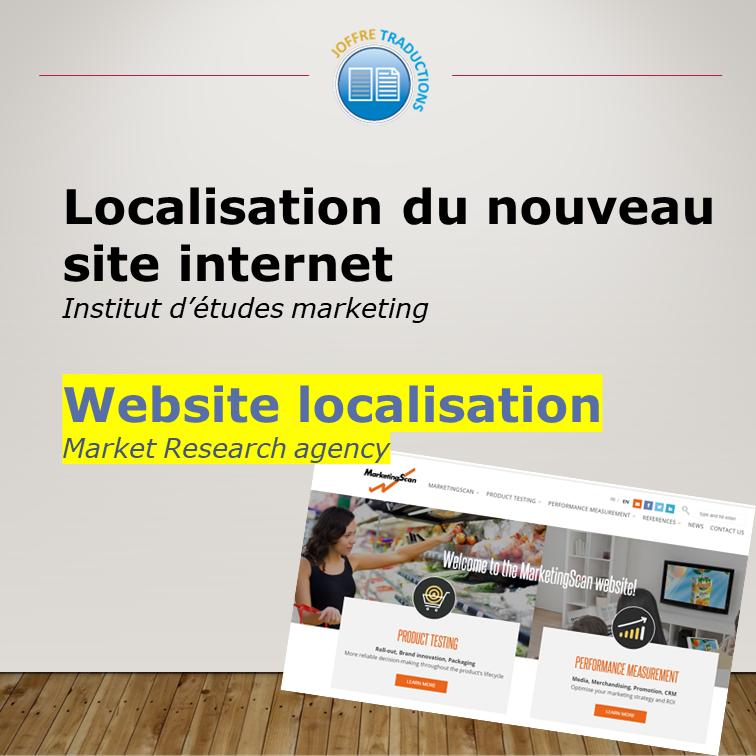 Localisation Site web en anglais