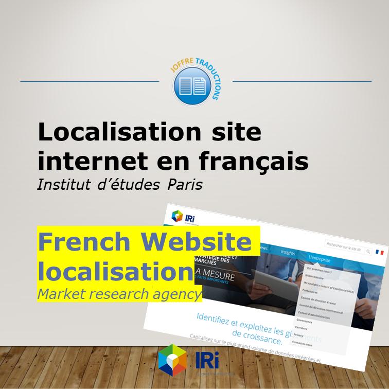 Localisation Site IRI 2018