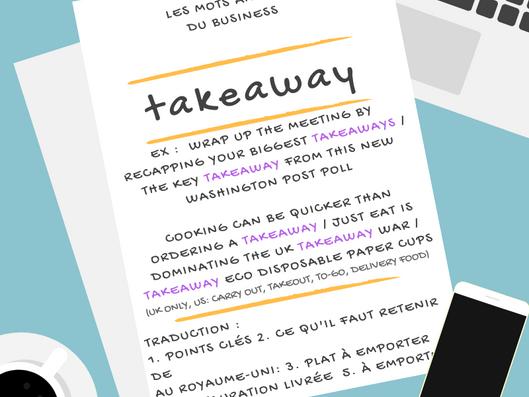 Comment bien traduire Takeaway
