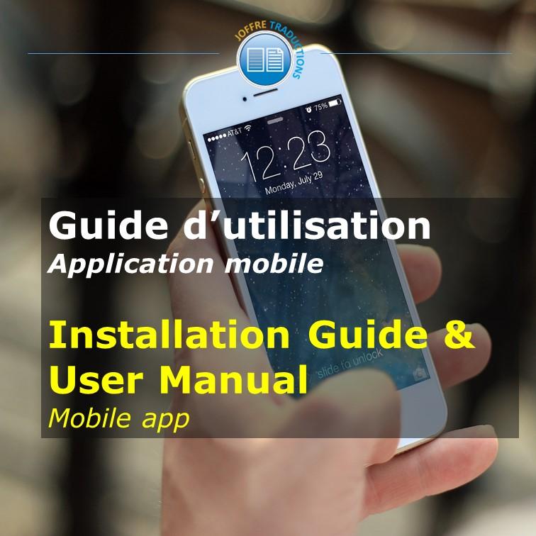 Guide utilisateurs appli mobile
