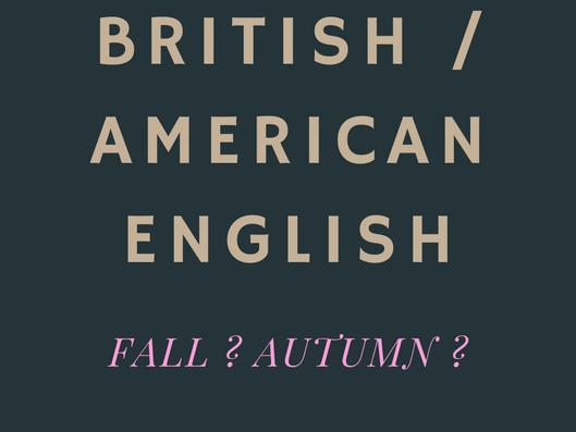 Différences entre le British et l'American English