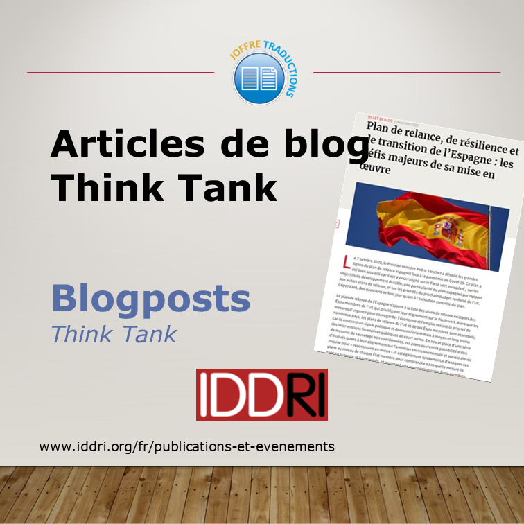 Blogpost IDDRI
