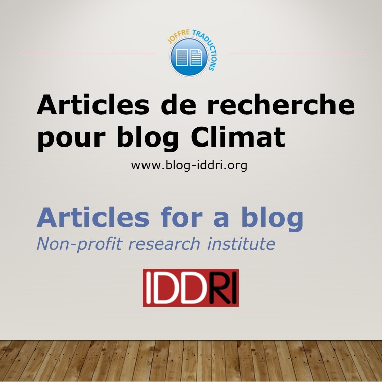 Articles blog IDDRI 2