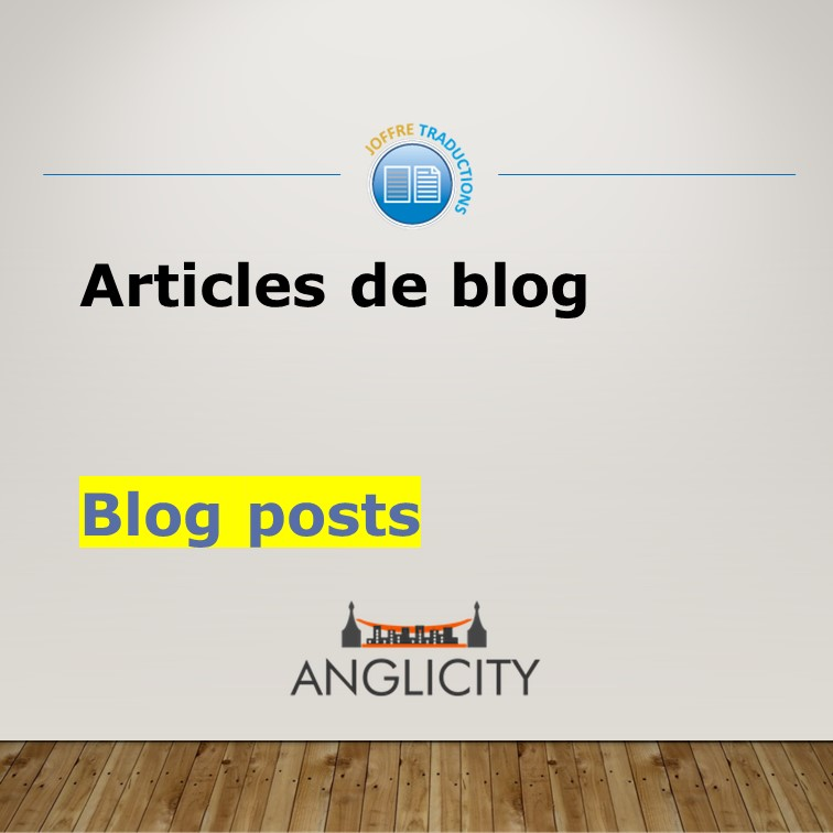 Articles blog Anglicity