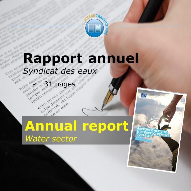 Rapport annuel SDEA