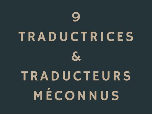 9 traducteurs méconnus