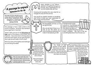 A passage to unpack - Ephesians 6 v 10-1