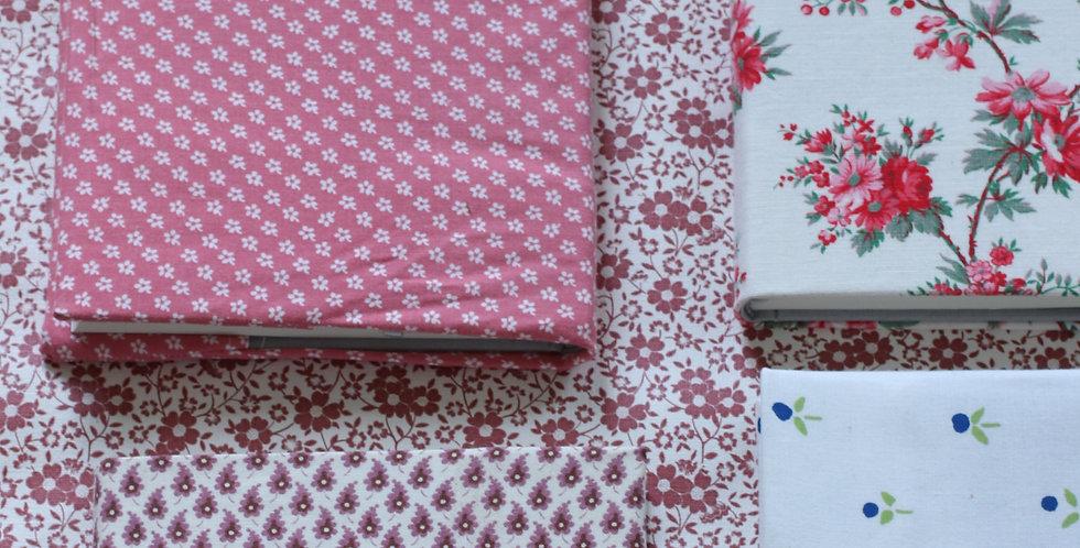 Notisbok-cover av vintage Laura Ashely tekstil