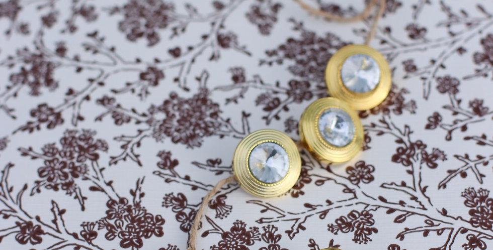 Vintage gull knapper nr 2