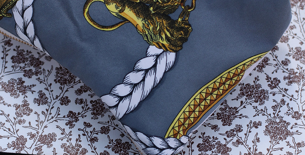 Clutch sydd av vintage silkeskjerf nr 98