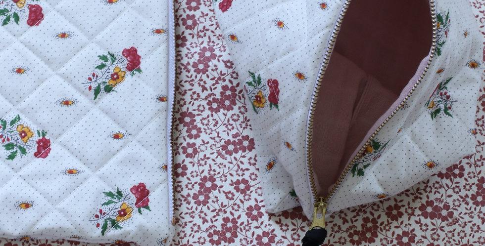Sommer clutch av vintage tekstil