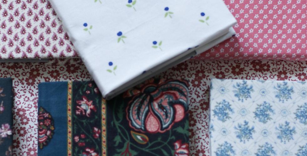 Notisblokk-cover av vintage Laura Ashley tekstil