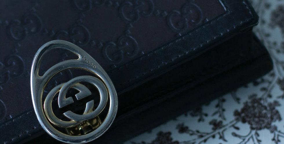 Vintage Gucci lommebok i brunt
